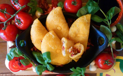 Lunitas Empanadas mit frischen Zutaten